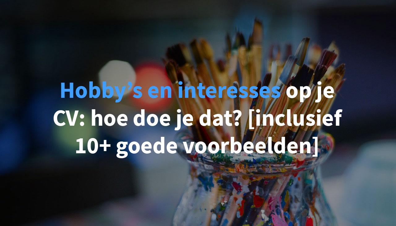 hobby's en interesses op cv