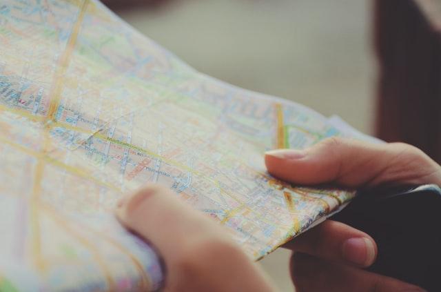 adres op landkaart