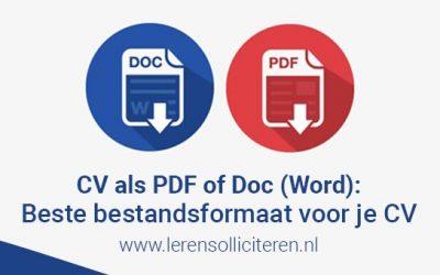 CV .pdf Vs .doc (Word): Beste bestandsformaat voor je CV